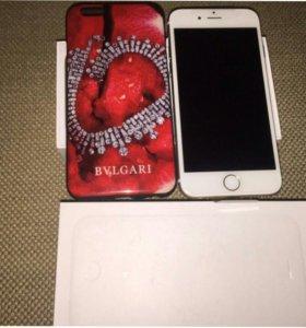 Айфон 6 Gold на 16 гб чехол в подарок