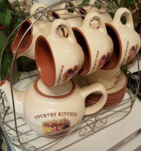 "Чайный набор Country kitchen (Terracotta) ""Деревен"