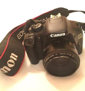 Фотоаппарат Canon 550D+ обьектив 50мм F/1.8
