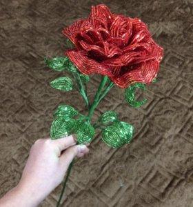 Розы из бисера