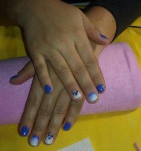 Маникюр, покрытие, укрепление ногтей, шеллак, гель