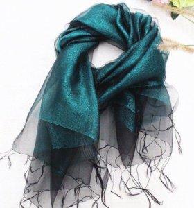 новый Лёгкий мерцающий шарф