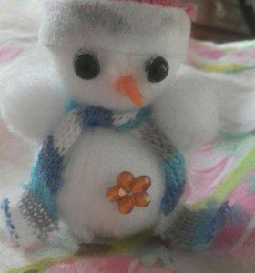 Игрушка, сделана своими руками! Снеговик
