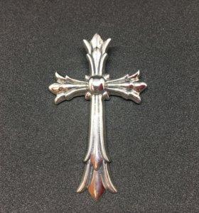Крест Chrome Hearts серебро 925 проба.