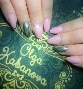 Наращивание ногтей, маникюр
