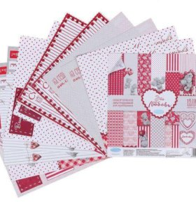 Набор бумаги для скрапбукинга, 12 листов