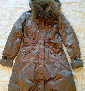 Пуховик-пальто, размер 44
