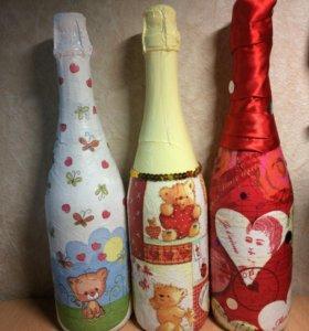 Декупажные бутылки
