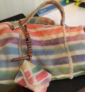 Тканевая летняя сумка