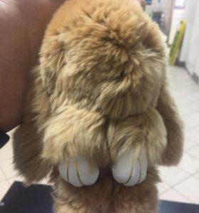 Брелки кролики ( натуральных мех )