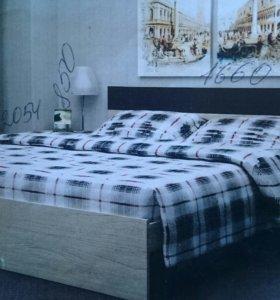 Кровать двухспальная с тахтой и матрасом