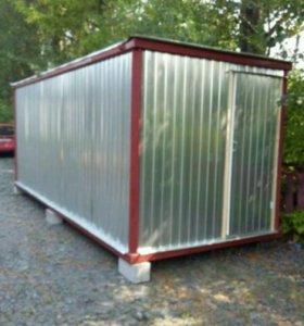 Новая Бытовка(блок-контейнер) 6*2,4 м.