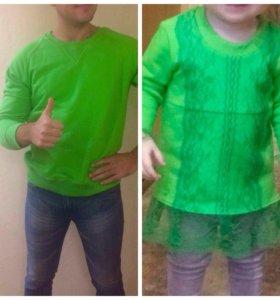 Одинаковая одежда папа мама дочка.