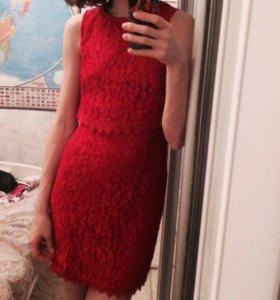Новое кружевное платье на 8 марта