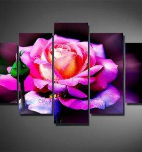 "Модульная картина ""Сказочная роза"""