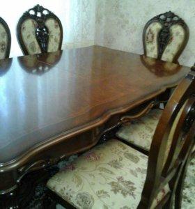 Столовая группа Стол и 6 стульев