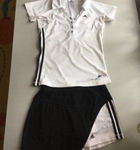 Костюм фитнес теннис юбка-шорты и поло