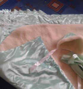 Одеяло-конверт на выписку зима