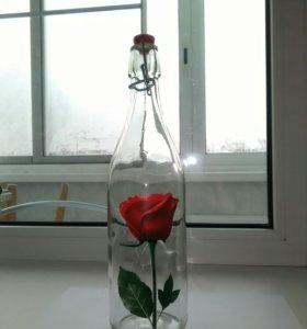 Бутылка стекло для молока, сока, на пикник