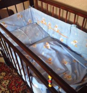 Комплект постельного белья + балдахины+ одеяло