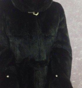 Норковая шуба -Чёрный бриллиант