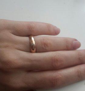 Золотое кольцо 16 размер