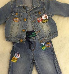 Джинсовый костюм Mothercare