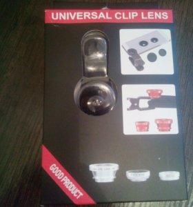 Universal clip lens или фишай