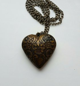 Кулон бижутерия Сердце на длинной цепочке