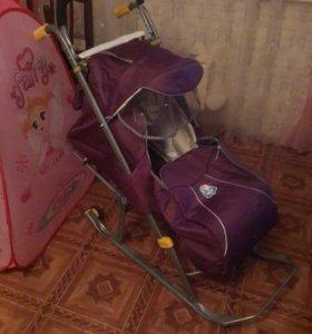 Санки коляска б/у 1 месяц Nika kids