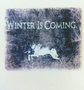 """Коврик для мыши, """"Игра престолов. Зима близко"""""""