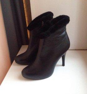 Ботильоны сапоги ботинки женские зимние кожаные