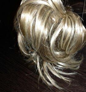 Заколка с дополнительными волосами
