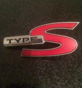 Эмблема Honda TypeS 75732SEAZ01