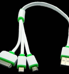 Кабель 3 в 1 для iPhone 4_5_5s_6, micro USB