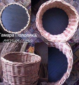 Плетеная конфетнтца из лозы
