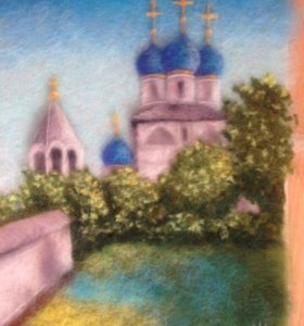 "Картина из шерсти ""Собор"""