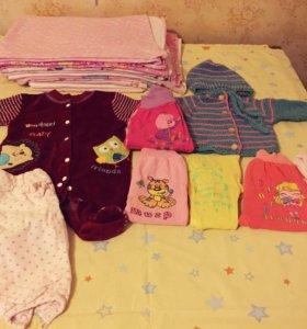 Одежда для девочки 0-3м