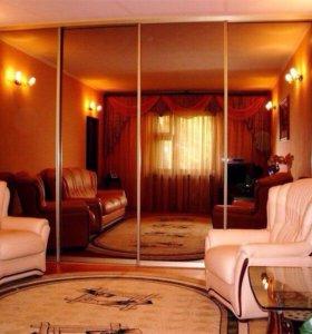 Шкаф купе зеркальный 4х дверный