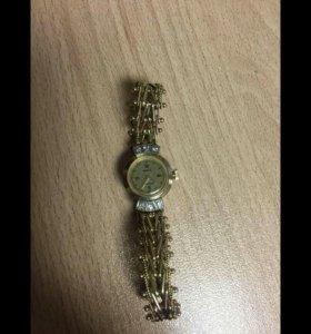 Золотые часы Чайка СССР 17камней