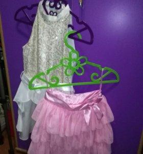 Платье и юбка в подарок на девочку