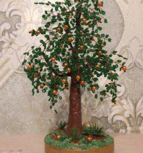 Дерево удачи из бисера