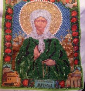 Икона Матроны Московской из бисера