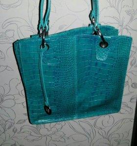 Кожа! Новая сумка италия Damiano Nesta