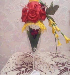 Топиарий цветочная композиция