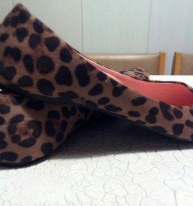 Балетки леопардовые 43 размер новые