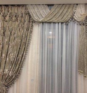 Пошив штор, текстиля.
