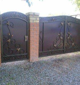Кованые ворота изготовление и монтаж