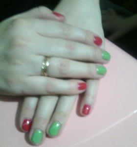 Покрытие ногтей гель-лаком( шеллаком)