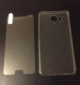 Стекло и чехол на Samsung A5 2016г